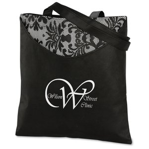 Designer Print Scoop Tote - Black Lace Main Image