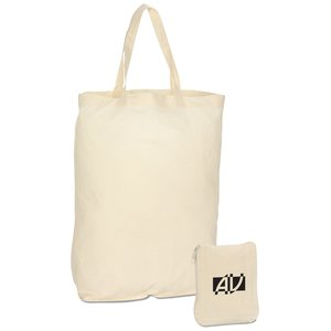 Foldable Cotton Grocery Tote - Closeout Main Image