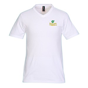 District Concert V-Neck Tee - Men's - White - Emb Main Image