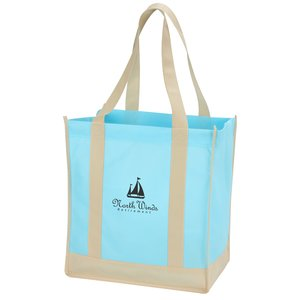 Two-Tone Shopping Bag - Closeout Main Image
