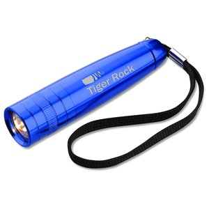Small Aluminum Flashlight with Strap - Closeout Main Image