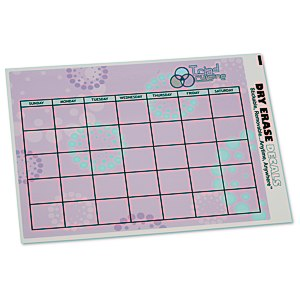Removable Monthly Calendar Decal - Burst Main Image