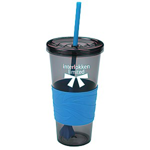 Smoky Revolution Tumbler with Straw - 24 oz. - 24 hr Main Image