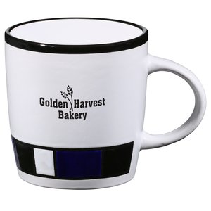 Color Block Ceramic Mug - White - 14 oz. Main Image