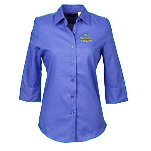 Soft Collar 3/4 Sleeve Poplin Shirt – Ladies' - 24 hr Main Image
