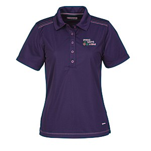 Dunlay MicroPoly Textured Polo - Ladies' - 24 hr Main Image