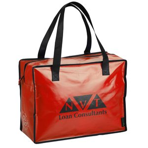 Laminated Polypropylene Zippered Box Tote-Closeout Main Image