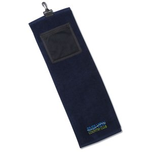 Golf Towel w/Mesh Pocket Main Image
