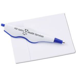 Cliptrax Pen and Adhesive Note Pad Set-Closeout Main Image