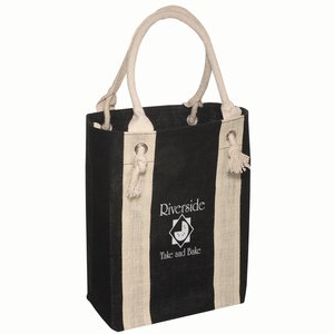 Rope Handle Jute Boat Tote Main Image