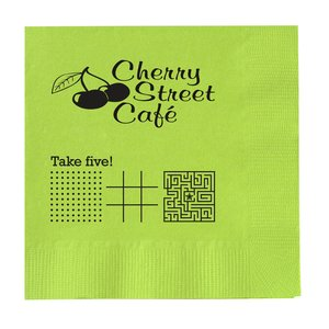 Colorware Beverage Napkin - 2-ply - Color - Low Qty - Game Main Image