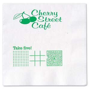 Beverage Napkin - 2-ply - White - Game Main Image