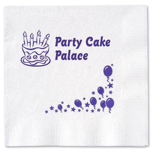 Beverage Napkin - 2-ply - White - Celebrate Main Image