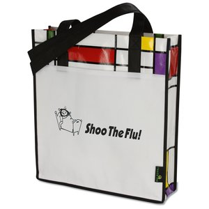 Laminated Geometric Mondrian Convention Tote
