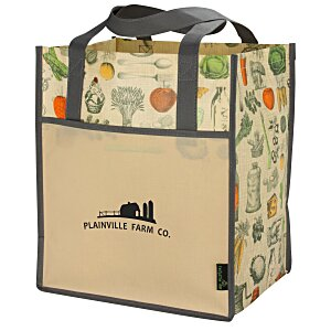 Matte Laminated Vintage Design Grocery Tote Main Image