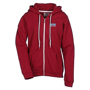 Anvil Fashion Full-Zip Hoodie - Ladies' - Embroidered Main Image