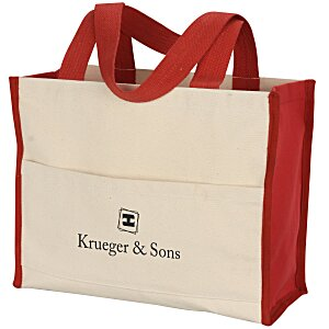 Cotton Gusset 14 oz. Accent Box Tote Main Image