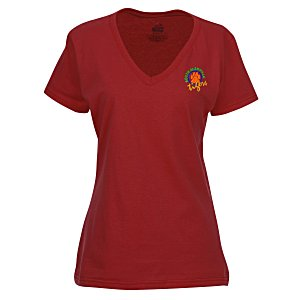 Fruit of the Loom HD V-Neck T-Shirt - Ladies' - Embroidered - Colors Main Image