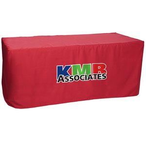 Closed-Back Fitted Table Cover - 6' - Heat Transfer Main Image