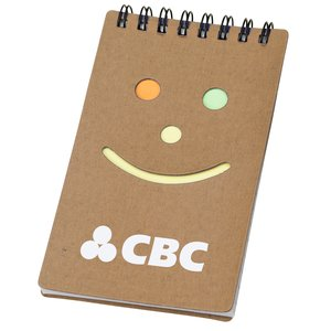 Smiley Sticky Jotter - Closeout Main Image