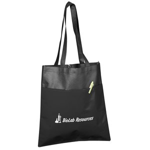 Laminated Duo-Tone Tote - Closeout Main Image