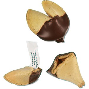 Chocolate Dipped Fortune Cookies Main Image