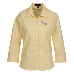 Capulin 3/4 Sleeve EZ-Care Fine Line Twill Shirt - Ladies' - 24 hr Main Image