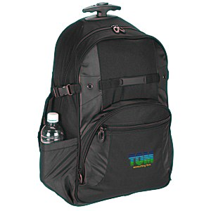 Kenwood Wheeled Laptop Backpack - Embroidered
