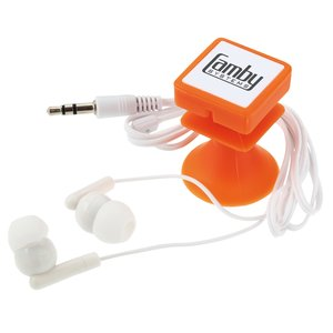 Ear Buds w/Suction Phone Stand Main Image