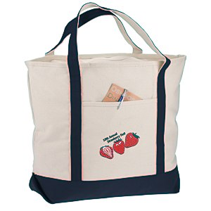 "Harbor Cruise Boat Tote - 16"" x 22"" - Embroidered"