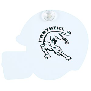 Window Sign - Football Helmet - Plastic - White