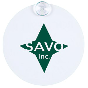 Window Sign - Round - Plastic - White Main Image