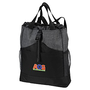Eclipse Backpack Tote - Embroidered Main Image