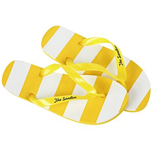 Striped Flip Flops Main Image