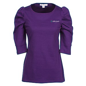 Naomi 3/4 Sleeve Interlock Tunic Main Image