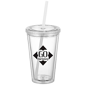 Victory Tumbler with Mood Straw - 16 oz. Main Image