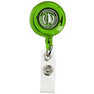 Economy Retractable Badge Holder - Translucent - 24 hr