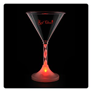 Martini Glass with Light-Up Spiral Stem - 6 oz. Main Image