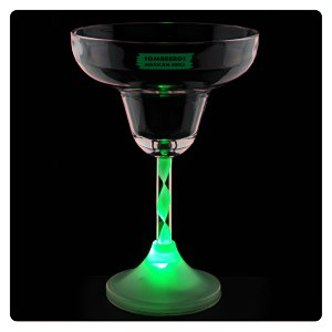Margarita Glass with Light-Up Spiral Stem - 8 oz. Main Image