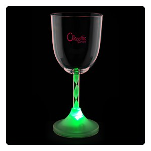 Wine Glass with Light-Up Spiral Stem - 10 oz. Main Image