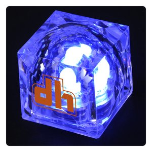 Crystal Light Up Ice Cube - Blue Main Image