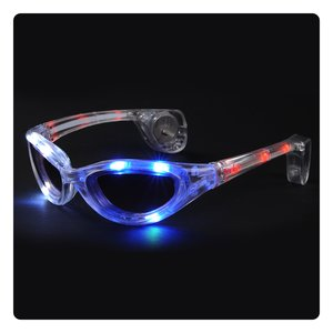 Blinking Sunglasses - Red, White & Blue