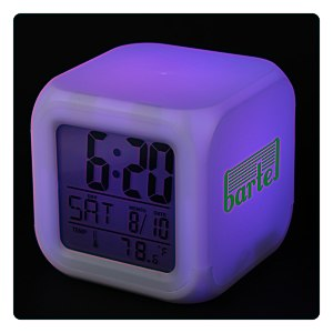 Color Changing LED Alarm Clock Main Image