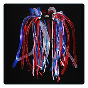 LED Noodle Headband - Red, White & Blue Main Image