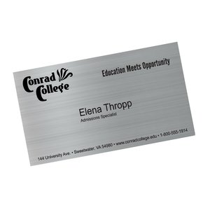 Metallic Business Card Magnet