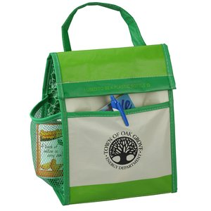 Recycled Impulse Lunch Cooler - Green - Closeout Main Image