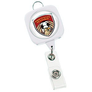 "Jumbo Retractable Badge Holder - 40"" - Square with Lanyard Ring Main Image"