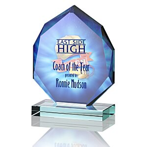 "Eclipse Jade Glass Award - 5"" - Full Color Main Image"