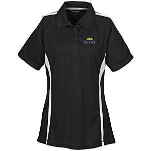 Performance Pique Mesh Colorblock Polo - Ladies' Main Image