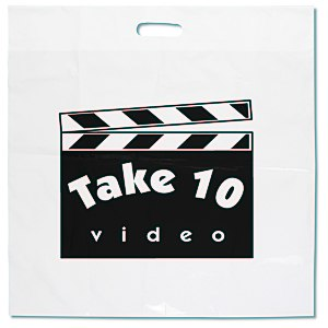 "Oxo-Biodegradable Take Home Bag - 20"" x 20"" - White Main Image"